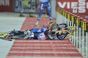 Sveriges Mona Brorsson under damernas världscup i skidskytte 15 km i Östersund i november 2015.