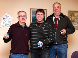 Pristagare från vänster: Johan Hård af Segerstad, Kim Haag och Rolf Samuelsson. (Fattas gör Sigge Rusten)