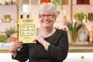 Annika Olsson från Ytterhogdal skrapade fram 100 000 i onsdagens Nyhetsmorgon.