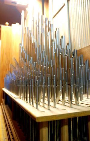 Den nyare romantiska orgeln består av cirka 3000 pipor och varierar i storlek och det finns pipor som är upp emot 20 meter höga, även om det inte förekommer på just den här.