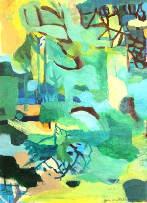 Johanna Bahlenbergs utställning speglar en inre verklighet, skriver LT:s konstrecensent. Här akrylmålningen