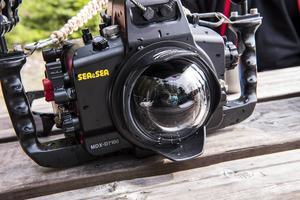 Martin Hanell fotar med en Nikon D7100. När han dyker har han den i ett undervattenshölje av aluminium.
