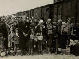 Fångtransport till Auschwitz.