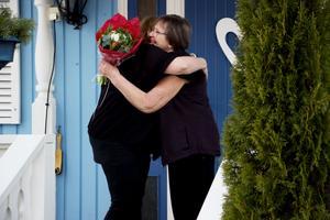 Gunilla och hennes man har bott i den blåa villan i Järbo i många decennier.