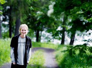 """Svensk-amerikanen Erik Blixt återvänder nu hem efter ett års studier på Wargentinsskolan i Östersund. """"Min tid här har varit fantastisk. Jag kommer tillbaka"""", lovar han.Foto: Lars-Eje Lyrefelt"""