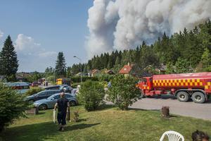 Boende i Gammelby tillhörde de som fick evakueras undan lågorna under fjolårsbranden.