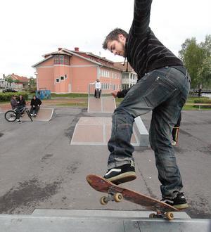 Multisportanläggningen i Edsbyn innehåller bland annat en skatepark.