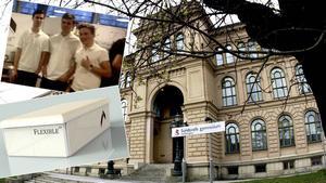 Carl Berggren, ekonomichef, Måns Lind, marknadschef och Victor Haugaard, vd, driver företaget Flexible.