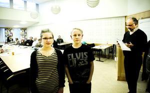 Isabelle Broberg och Anton Stark från Lunds skola i Forsa, vill ha ett alternativ till lättmargarinet.