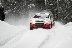 P-G Andersson dominerade rallyt från start till mål.