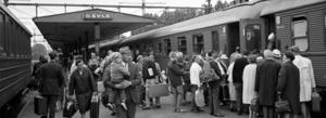Hur var det att åka tåg förr? Kvällens stadsvandring i Gävle ska ge besked.   Foto: Sveriges Järnvägsmuseum
