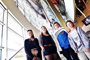 Johanna Franzén, Ebba Hofling, Linus Pettersson och Jesper Hofling ville alla se Harry Potters sista äventyr på vita duken.