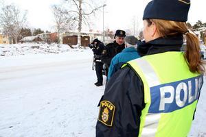 Med hjälp av laser bötfälldes många bilister för brott mot trafikreglementet. Foto: Håkan Degselius