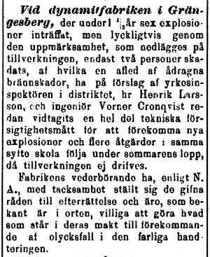 Ur Dalpilen 1892-04-08, en avled av brännskador