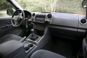 Interiören känns igen från övriga VW-bilar och kvalitetskänslan är högre än hos konkurrenterna i klassen.Foto: Rolf Gildenlöw