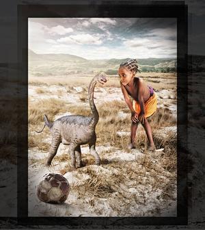 Ett nytt fossil från Madagaskar visar att sauropodernas ungar var mycket små när de kläcktes. Äggen var mindre än fotbollar. Men deras kroppsproportioner var likadana som hos vuxna individer.   Foto: A. Morrow