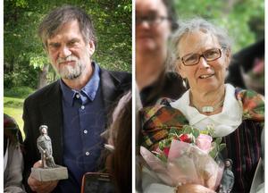Jens Ahlbom och Barbro Olsson vann Region Gävleborgs kulturpris.