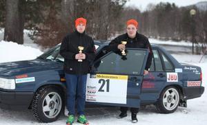 Jimmy Nesterud och Fredrik Jonasson var väldigt nöjda med att vinna sin klass båda dagarna.