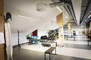 ÖIK har inrett ett gym under ena läktarsektionen, men eftersom det inte finns någon isolering in till arenan hörs ljud både in och ut från lokalen.