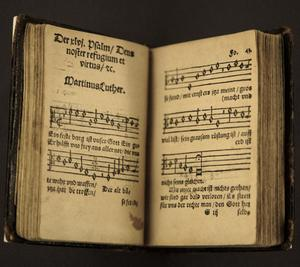 En tidig tryckning av Martin Luthers psalm