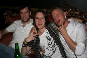 Rock och K Baren. Danne, Patrik och Jens