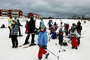 Första dagen var det elever från skolor i Sandviken som besökte Kungsberget.