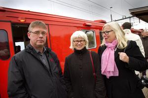 Kommunstyrelsens ordförande Mikael Löthstam (S) och hans kollegor i kustkommunerna träffade Karin Svensson Smith (MP), ordförande i riksdagens trafikutskott för att diskutera Ostkustbanan. Från kustkommunernas bolag Nya Ostkustbanan fanns vd Ingela Bendrot med.