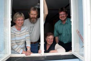 Elisabeth Eriksson, Ingemar Eriksson, Inger Andersson och Ronny Sundin är i full fart med förberedelserna inför 25-års jubilerande Borgsjön runt.