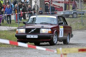 Göran Resare MK Koppparberg i en Volvo.