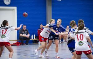 Amanda Hanning blev hemmalagets bäste målskytt med sina fem pytsar mot RP Linköping.