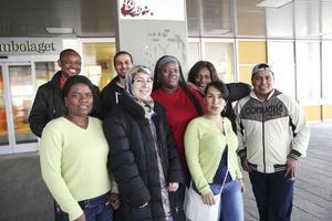 Deltagarna kommer från spridda länder som Kongo, Colombia, Syrien och Eritrea.