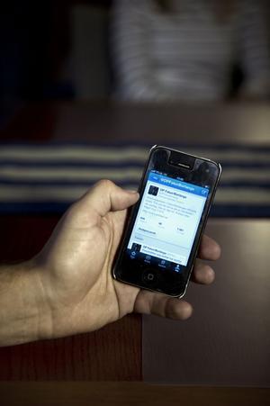 Twitterkontot sköts från mobiltelefoner.
