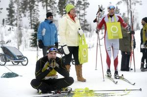 Trött tvåa och trea 40 km. Emil Lagergren Tynderö och Thommy Larsson Stockvik.