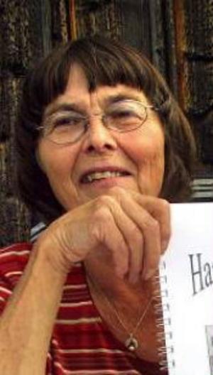 Harriet Frändén, flitig och prisbelönad skrivare.