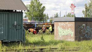 Räddningstjänsten fick på lördagen rycka ut till Stationsområdet i Bollnäs.