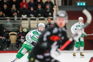 Linus Björklund sköt 3-0 i den 18:e minuten.