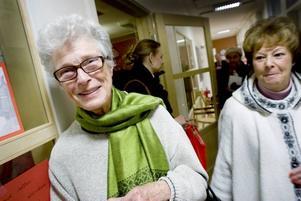 Nöjd. Kerstin Ernfors framhåller att Gävle har haft och har ett rikt teaterliv. Under många år har hon varit aktiv i Gävle teaterförening.