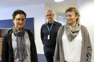 Anneli Jakobsson, Åke Höglund och Johanna Grundström, fackligt aktiva på Försäkringskassan i Gävle, tror på bättre arbetsmiljö.