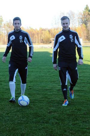 Robert Hedman, till vänster, och Gabriel Gyllenvåg är nyckelspelare om Vansbro ska lyckas vinna hemmamatchen mot Kungsgården i kvalet till division 3.
