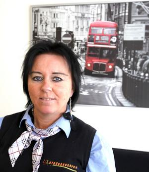 Lise Chalabi, 47 år, Gävle.– Det är ett trevligt jobb, bra kollegor, socialt. Man träffar nytt folk hela tiden.