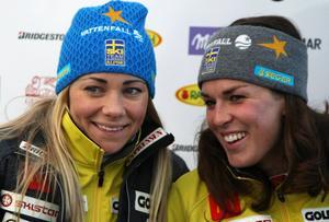 Frida Hansdotter och Maria Pietilä-Holmner tog hem viktiga poäng i världscupen med sina pallplaceringar.
