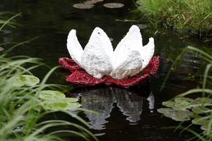 """Taina Heinos """"Lotus"""" är som ett smycke i dammen."""