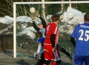 Norralas unga målvakt, 14-åriga Edvin Skärdin, spelade bra under hela Gruscupen. Men i finalen mot Sandarne tvingades han att kapitulera två gånger.