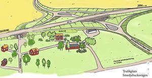 I samband med bygget av den nya trafikplatsen har en förorening påträffats.