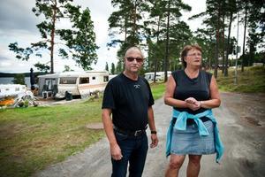 Göte Berglund och Margareta Wester driver Sälstens camping i Härnösand.