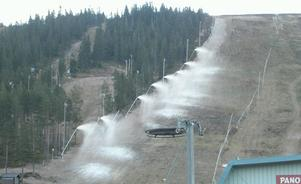 Lite snö. Riktigt så här illa hade inte Sälenfjällen i vinter men i oktober 2005 såg det ut så här. Foto: Sören Haga/arkiv