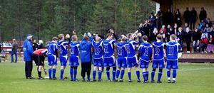 Rengsjös tappra kvalkämpar tackar hemmapubliken efter 2–3 mot Rotebro i kvalreturen. Och publiken tackade Rengsjö för en mycket stark säsong.