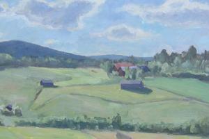 Landskapet kring Bergsjö fascinerade och inspirerade Kalle Bohlin. De allra  sista åren var han ofärdig och fick svårt att utöva sin stora hobby. Han dog 1992.
