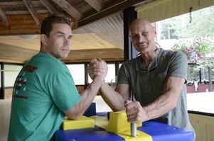 Kompismatch. Jimmy Nyqvist bjöd in Allen Fisher till jubileet efter att de träffats på tävlingar i USA.