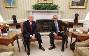 Trump hade bara gott att säga om Barack Obama efter ett en och en halv timmes möte i Vita huset.